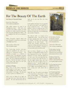 2015-11-HOTM-For-The-Beauty-Of-The-Earth